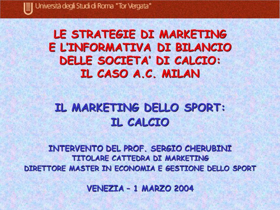 IL MARKETING DELLO SPORT: IL CALCIO