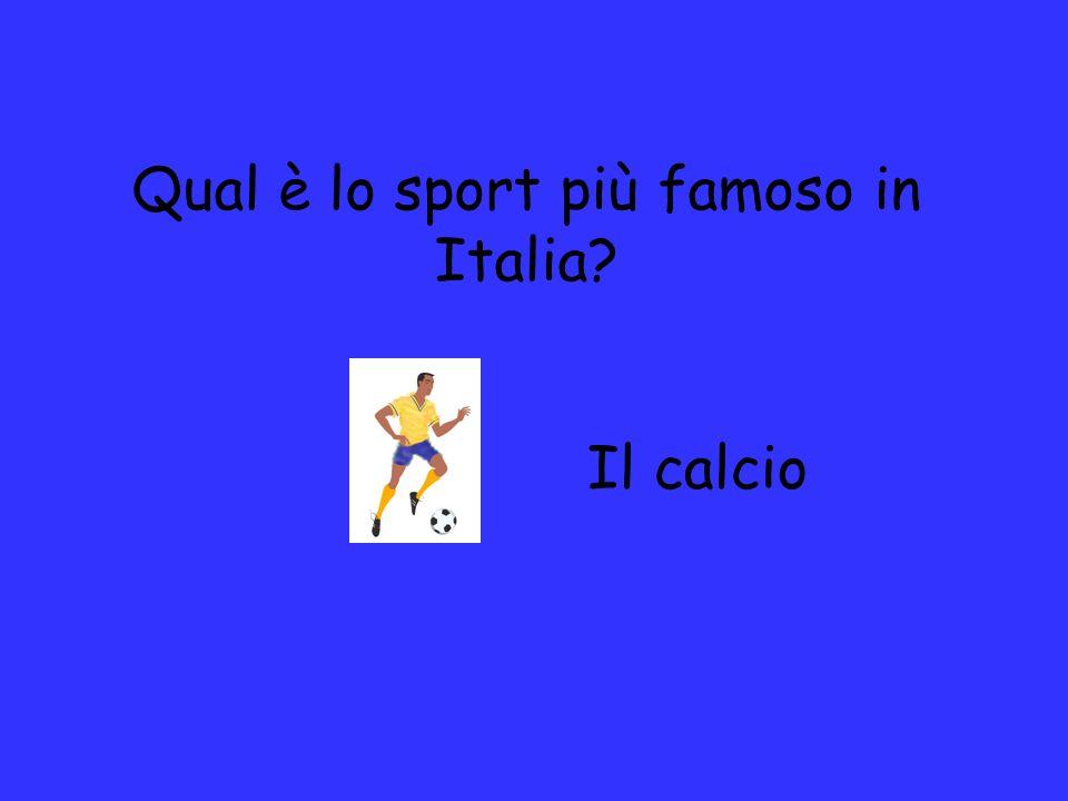 Qual è lo sport più famoso in Italia