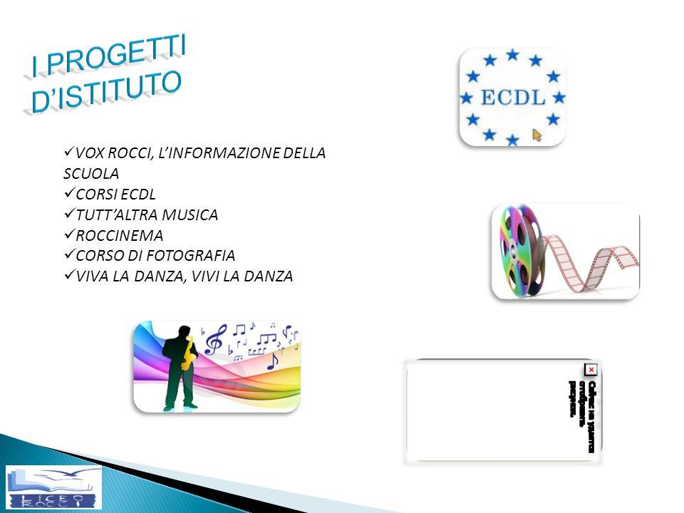 I PROGETTI D'ISTITUTO CORSI ECDL TUTT'ALTRA MUSICA ROCCINEMA