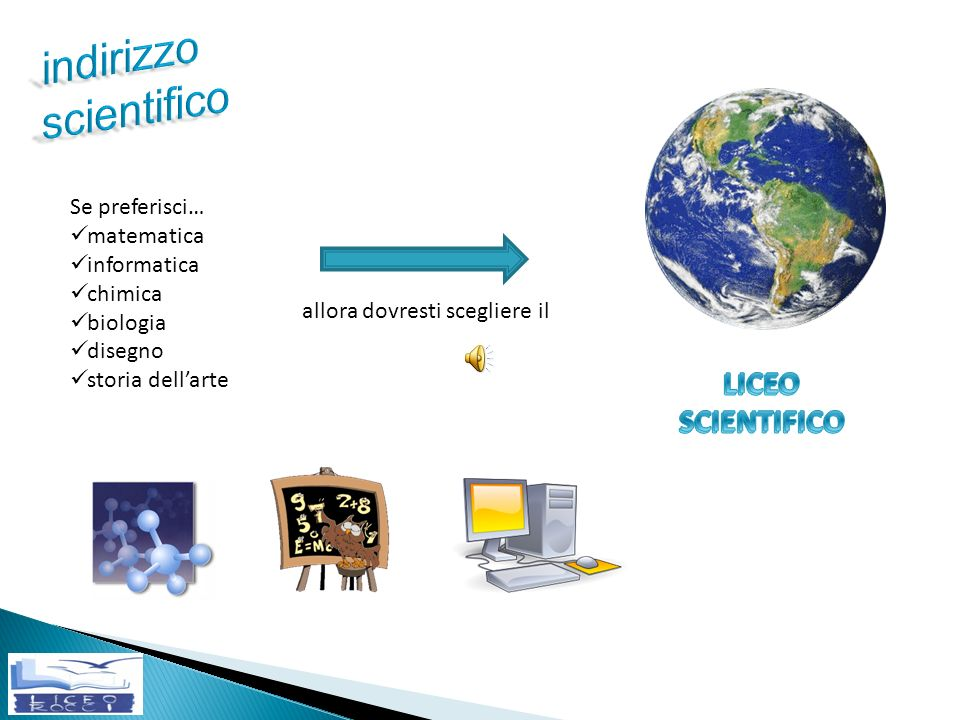 indirizzo scientifico LICEO SCIENTIFICO LICEO SCIENTIFICO