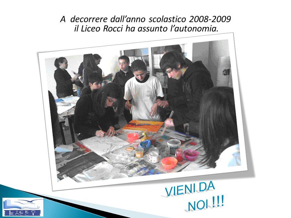 VIENI DA NOI !!! A decorrere dall'anno scolastico 2008-2009