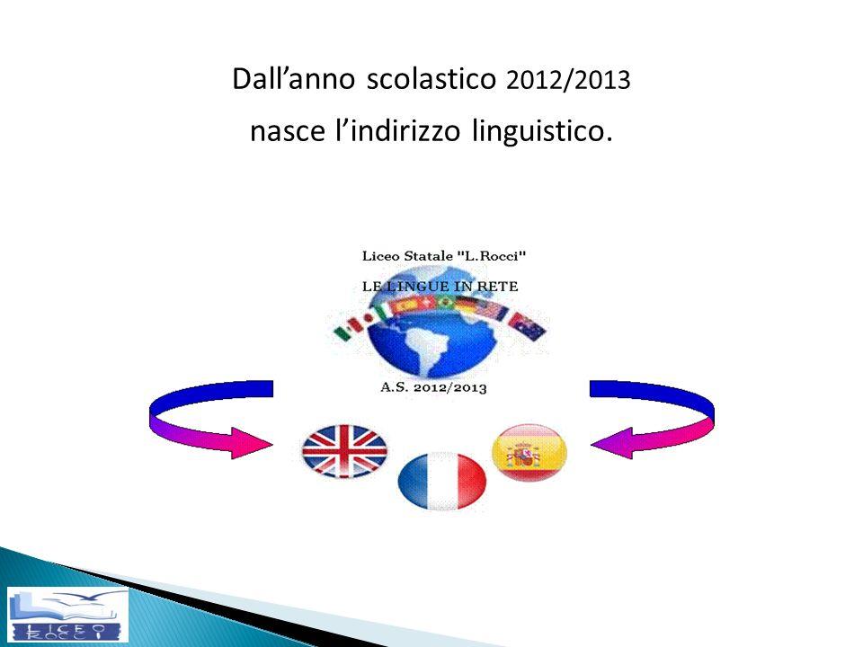 Dall'anno scolastico 2012/2013 nasce l'indirizzo linguistico.