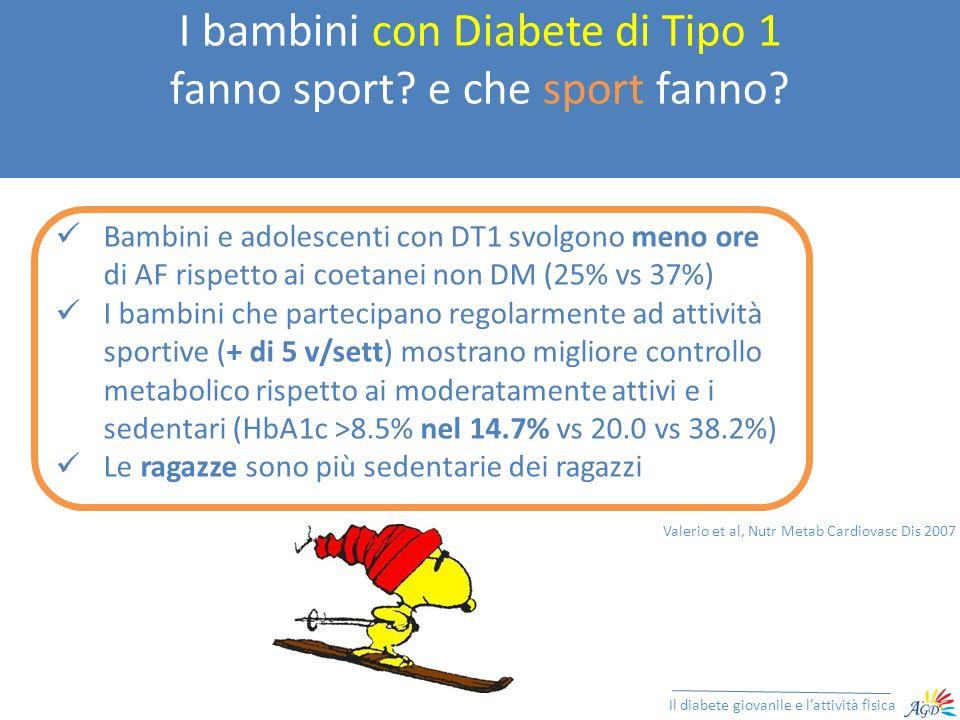 I bambini con Diabete di Tipo 1 fanno sport e che sport fanno