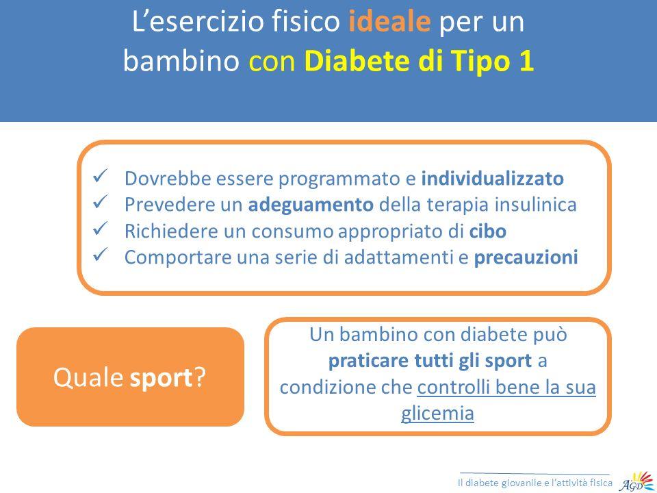 L'esercizio fisico ideale per un bambino con Diabete di Tipo 1