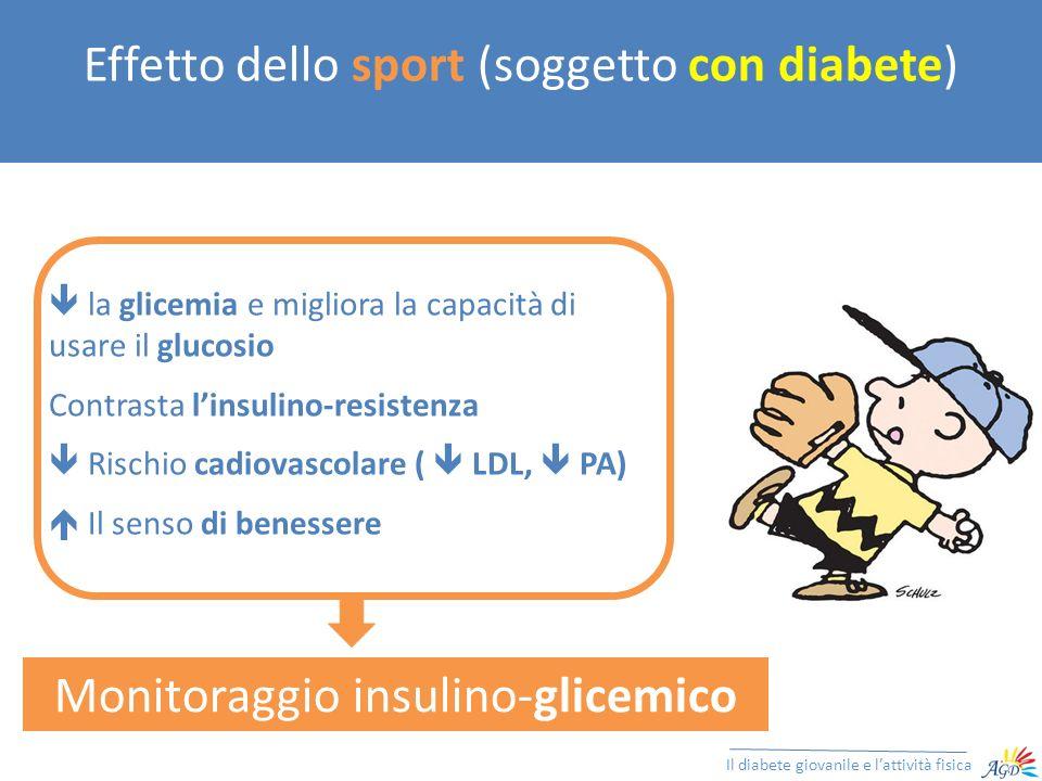 Effetto dello sport (soggetto con diabete)