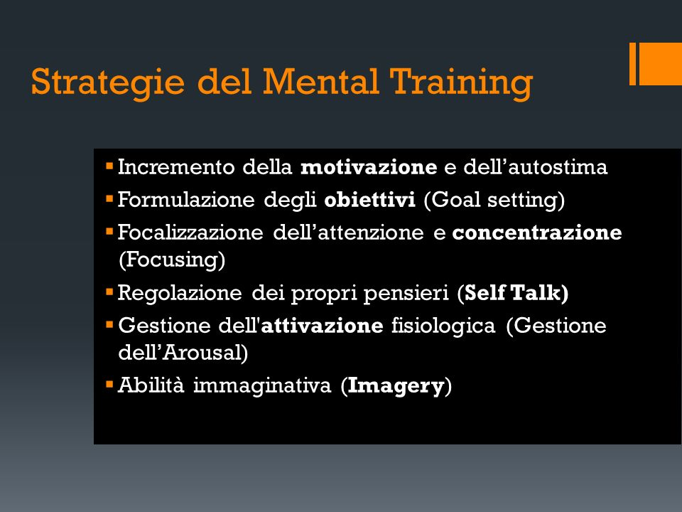 Strategie del Mental Training