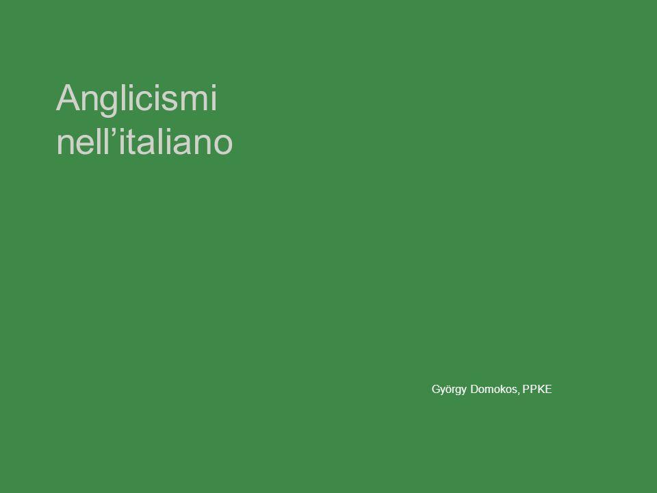 Anglicismi nell'italiano