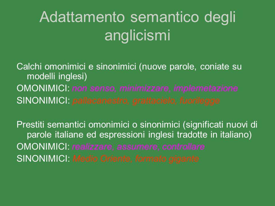 Adattamento semantico degli anglicismi