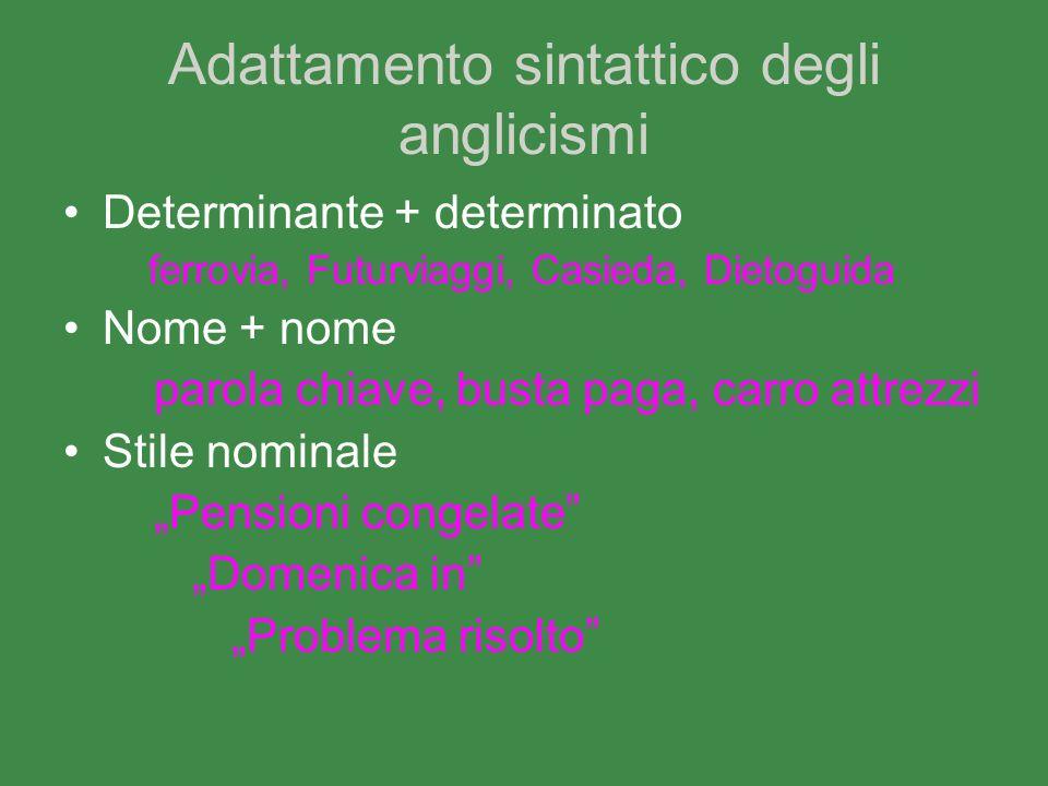 Adattamento sintattico degli anglicismi