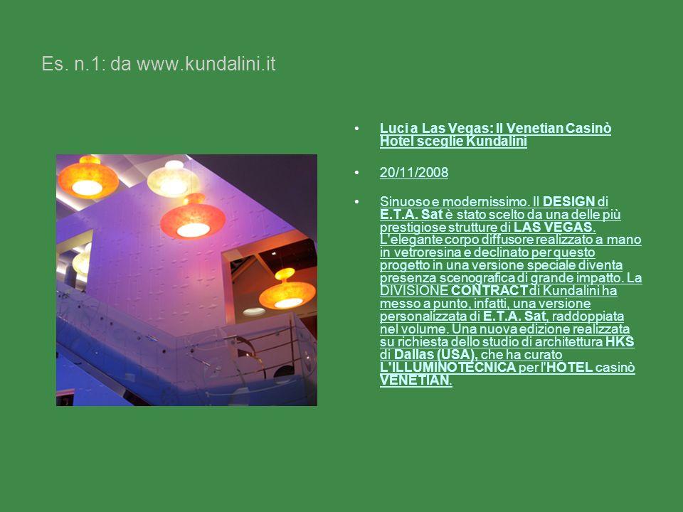 Es. n.1: da www.kundalini.it