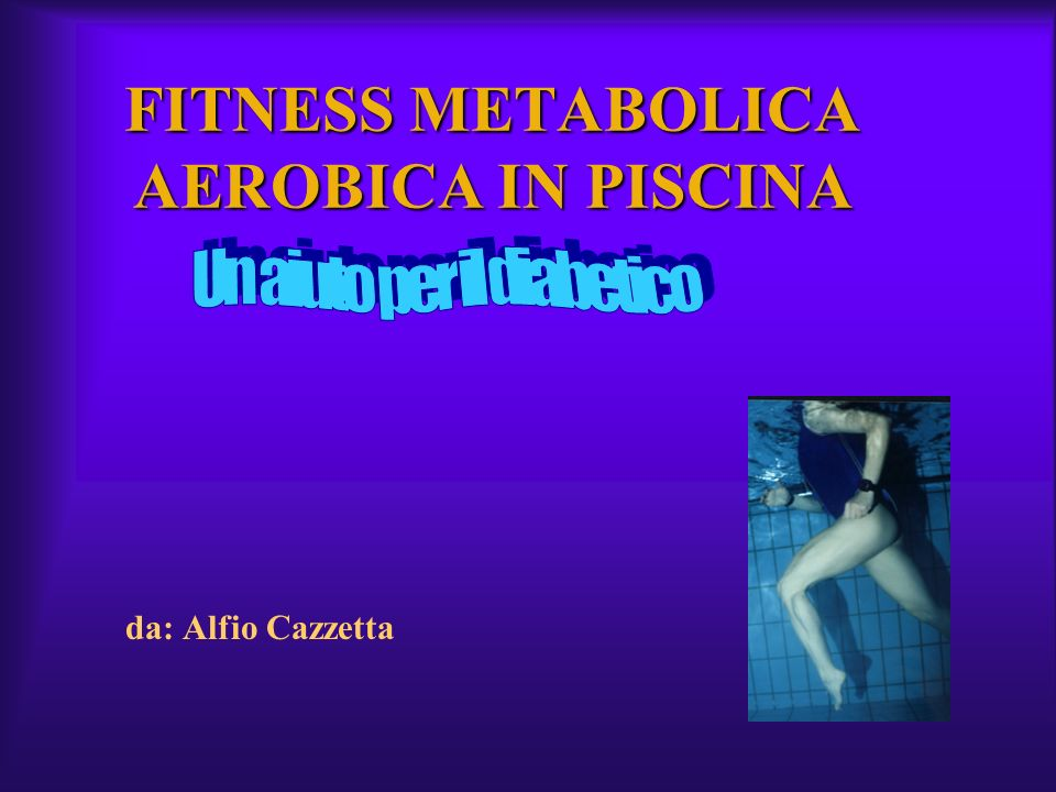 FITNESS METABOLICA AEROBICA IN PISCINA