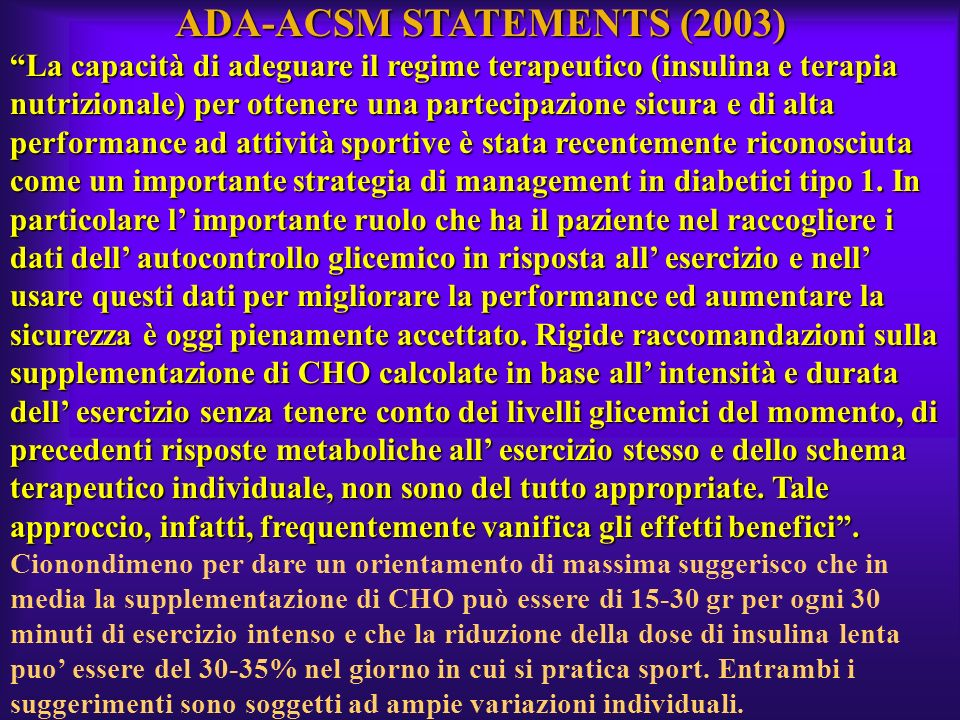ADA-ACSM STATEMENTS (2003)