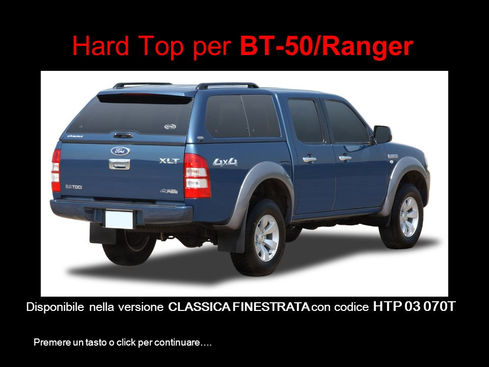 Hard Top per BT-50/Ranger