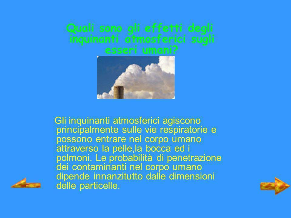 Quali sono gli effetti degli inquinanti atmosferici sugli esseri umani