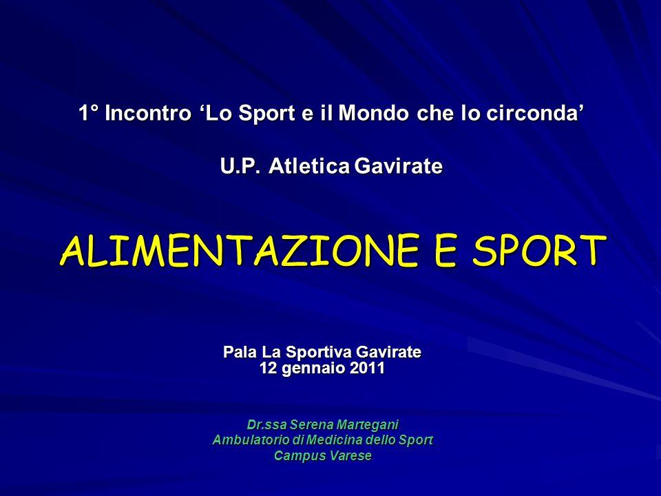 1° Incontro 'Lo Sport e il Mondo che lo circonda' U. P
