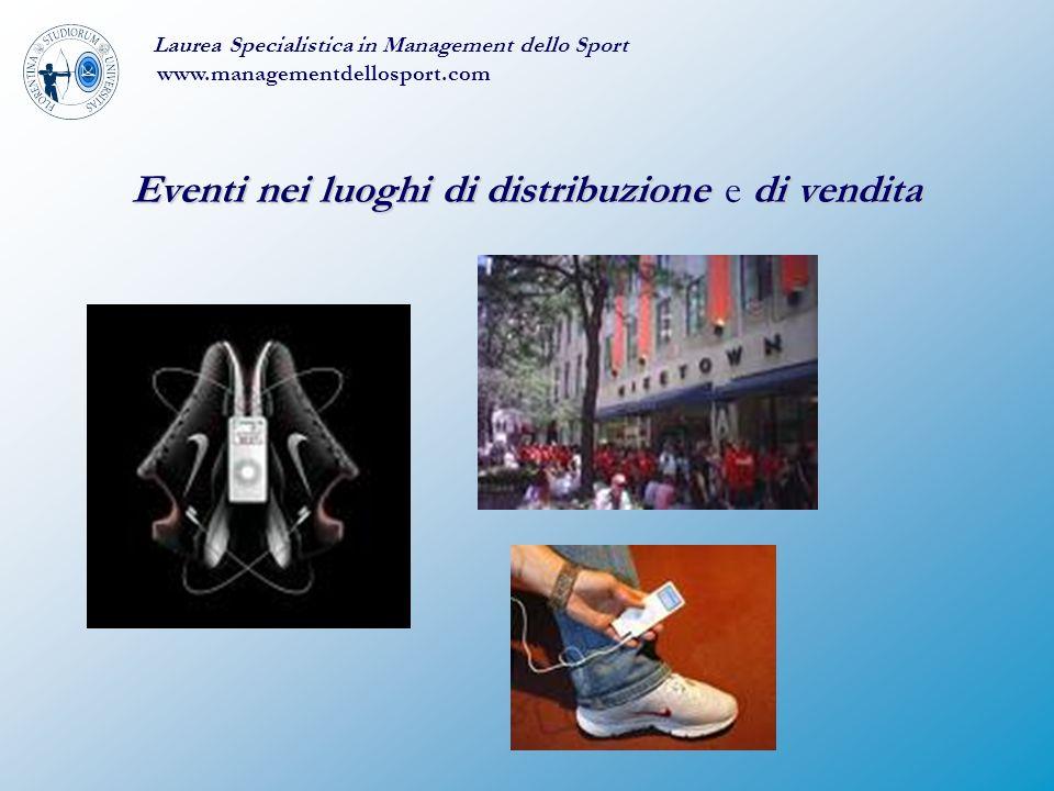 Eventi nei luoghi di distribuzione e di vendita