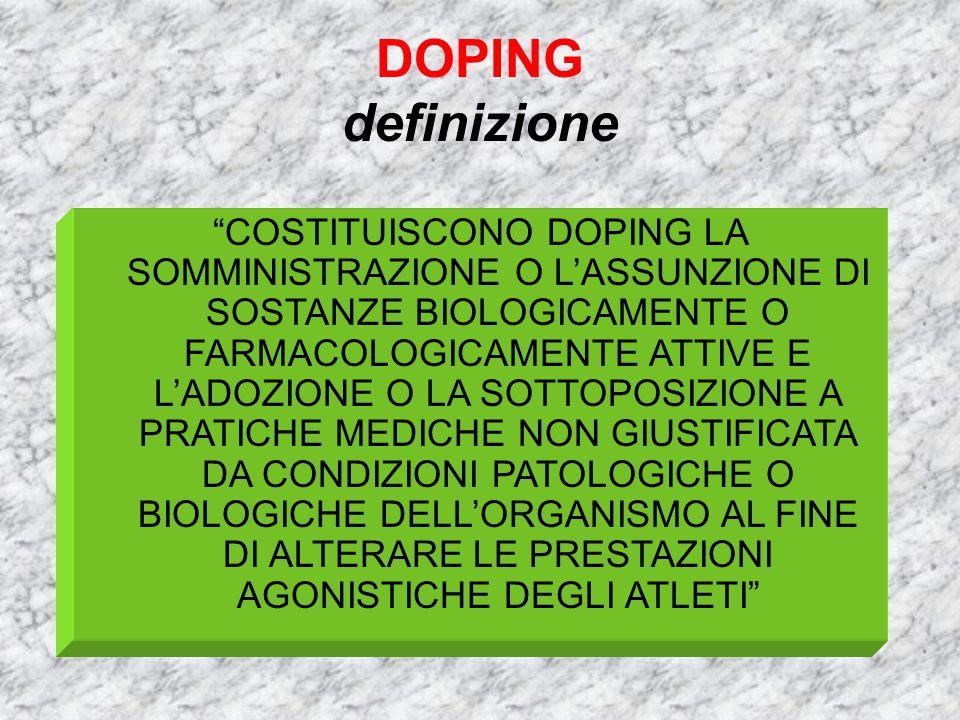DOPING definizione