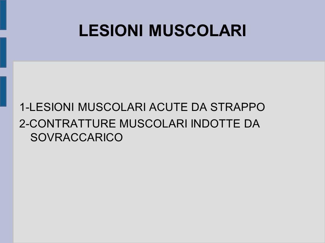LESIONI MUSCOLARI 1-LESIONI MUSCOLARI ACUTE DA STRAPPO