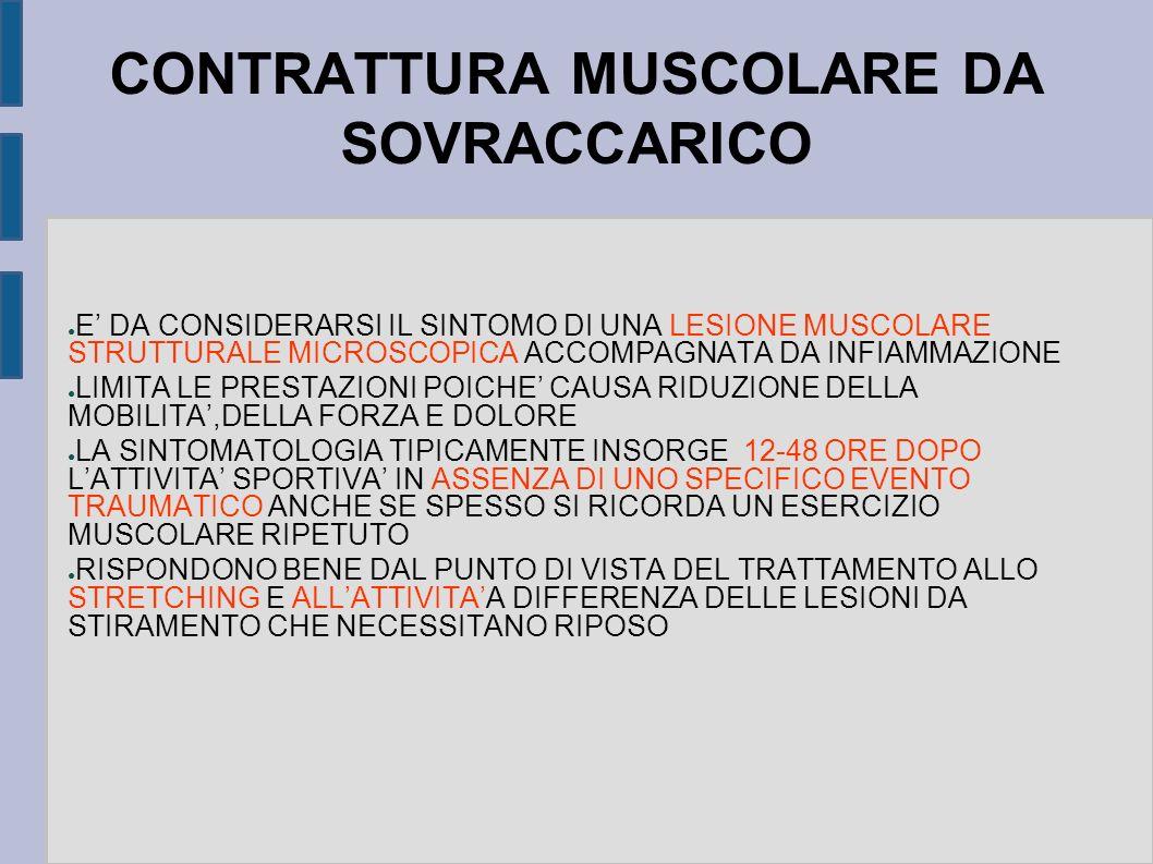 CONTRATTURA MUSCOLARE DA SOVRACCARICO