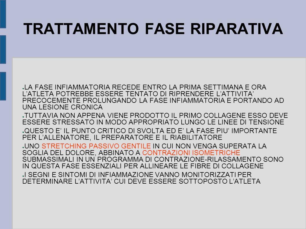 TRATTAMENTO FASE RIPARATIVA