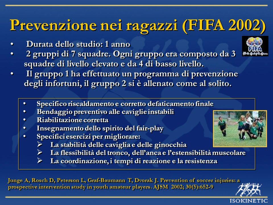 Prevenzione nei ragazzi (FIFA 2002)