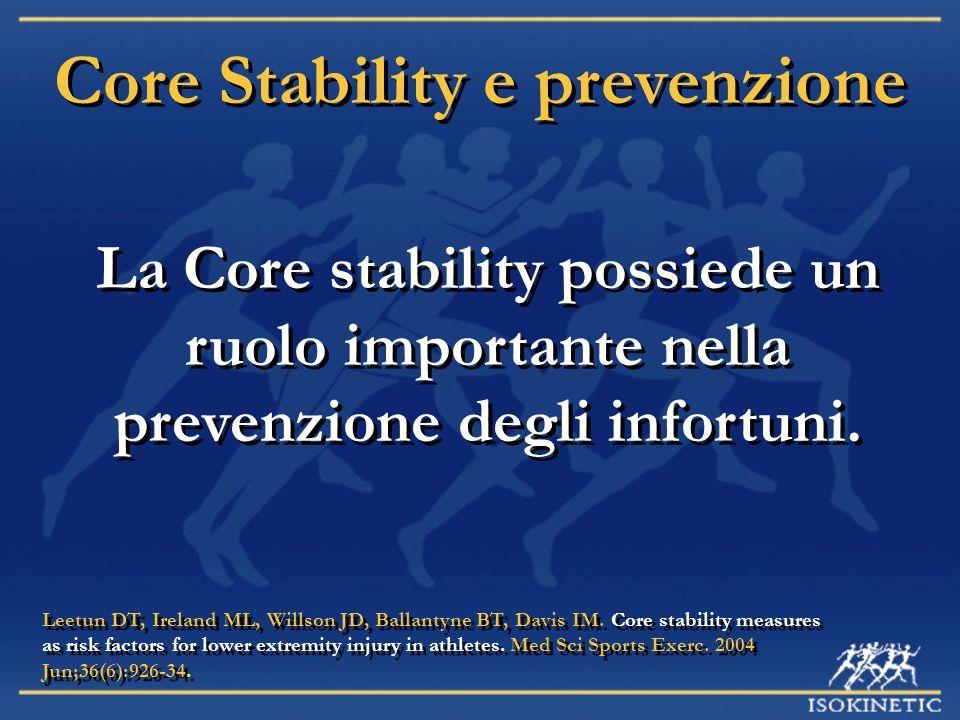 Core Stability e prevenzione