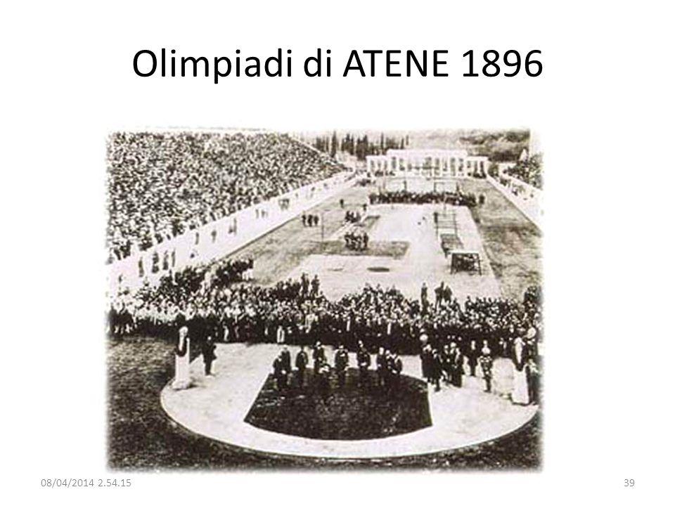 Olimpiadi di ATENE 1896 29/03/2017 02:28:09
