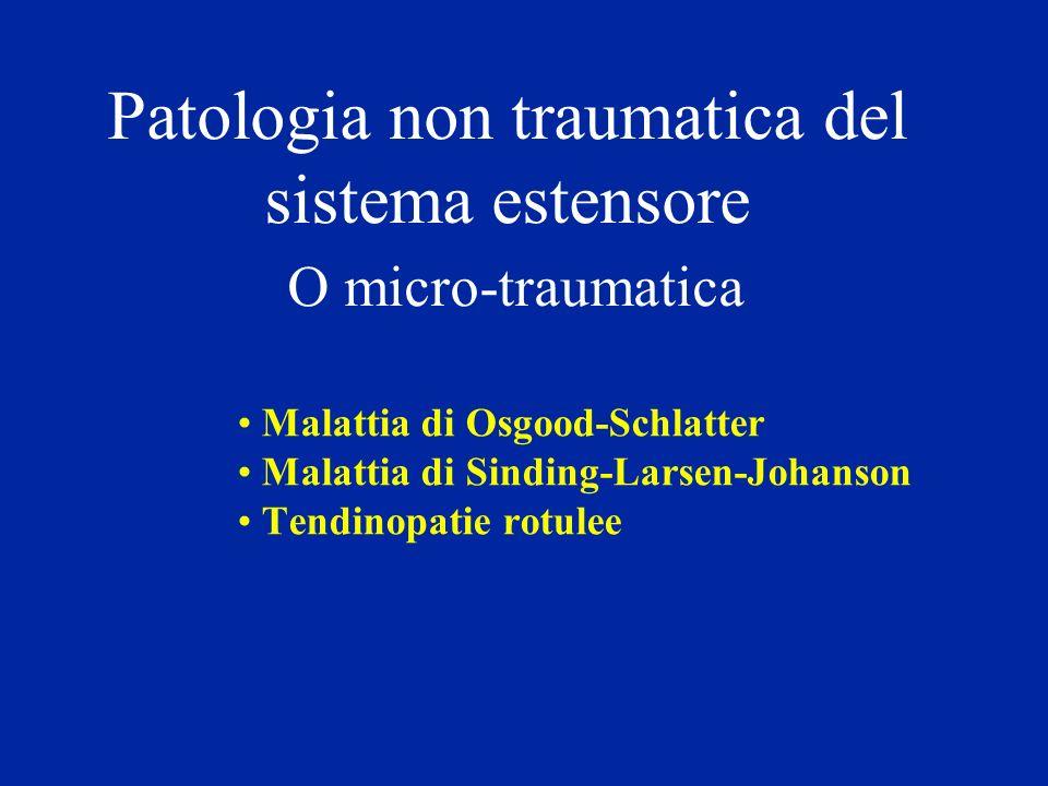 Patologia non traumatica del sistema estensore O micro-traumatica