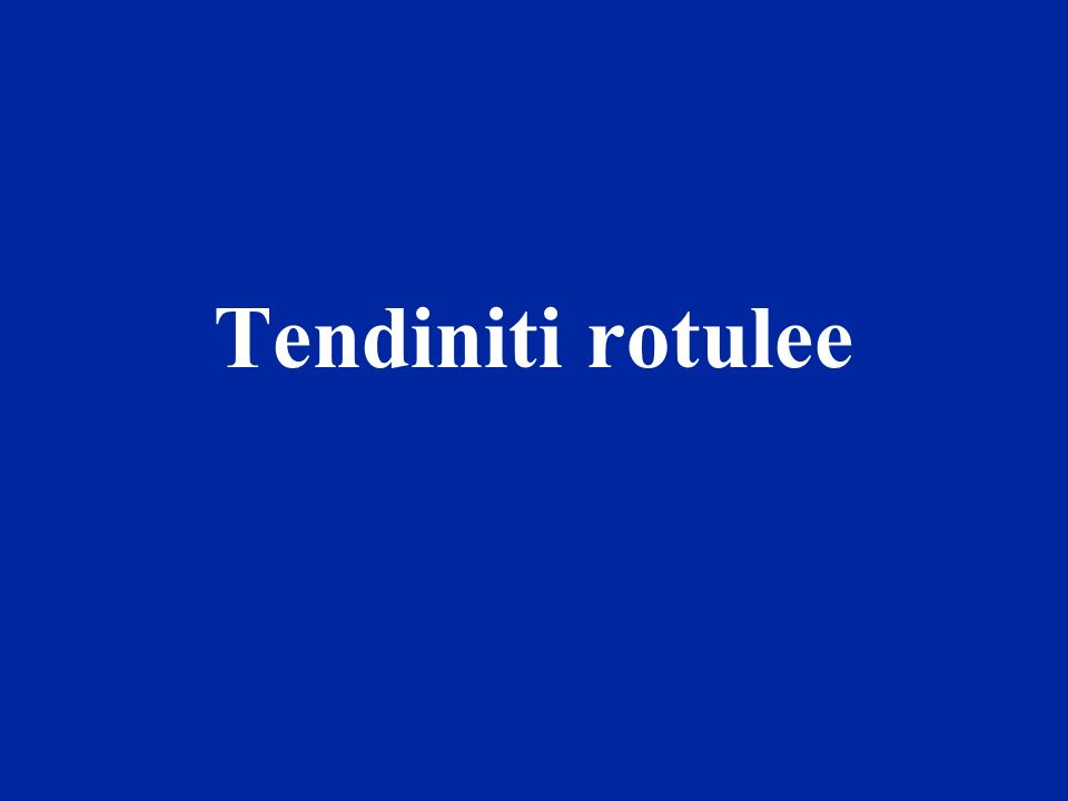Tendiniti rotulee
