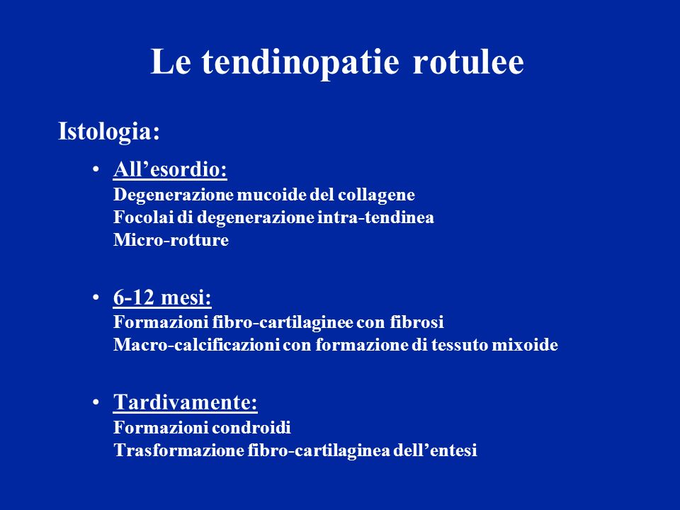 Le tendinopatie rotulee