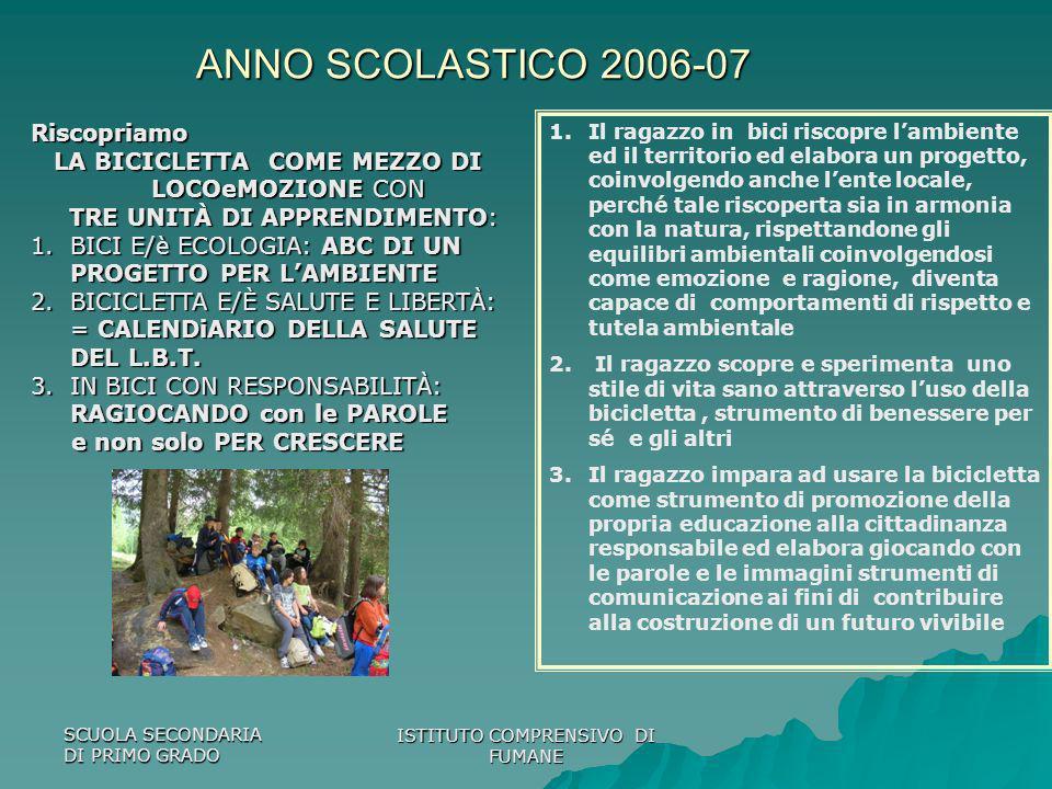 ANNO SCOLASTICO 2006-07 Riscopriamo