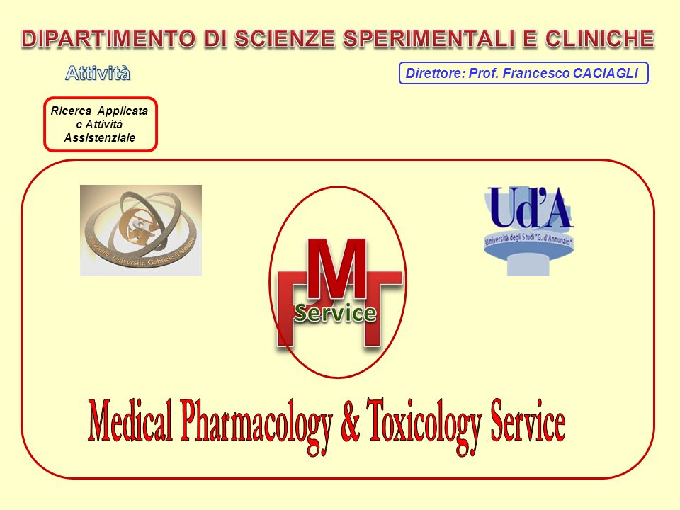 PT M Service Medical Pharmacology & Toxicology Service