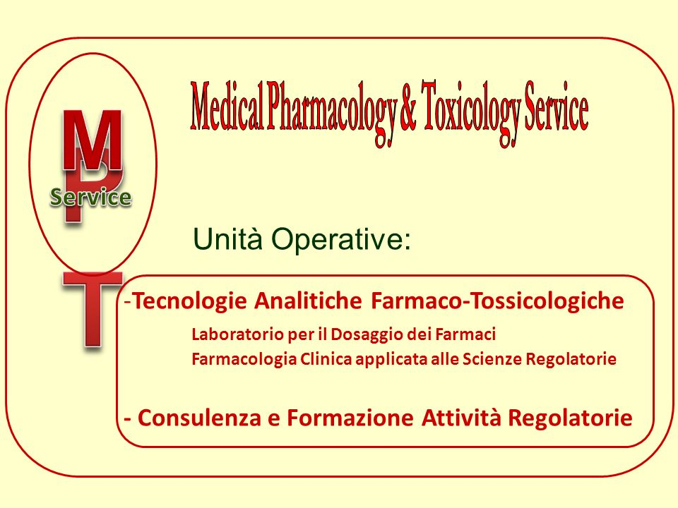 Medical Pharmacology & Toxicology Service