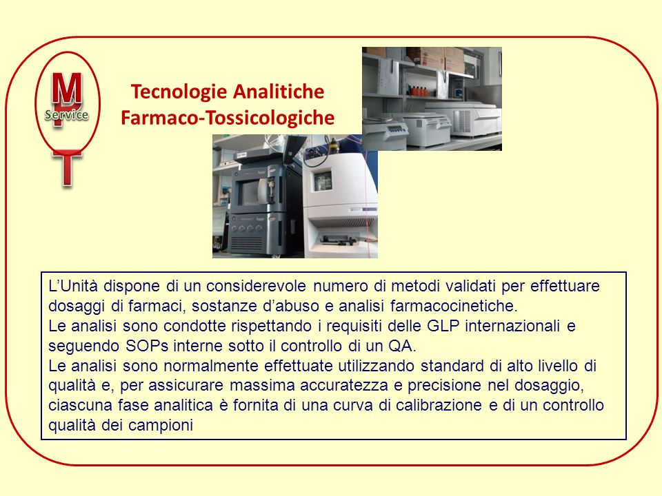 Tecnologie Analitiche Farmaco-Tossicologiche
