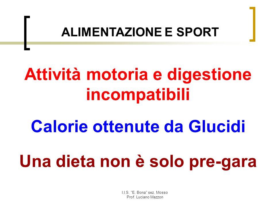 Attività motoria e digestione incompatibili