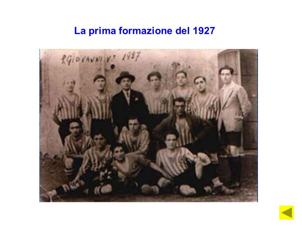 La prima formazione del 1927