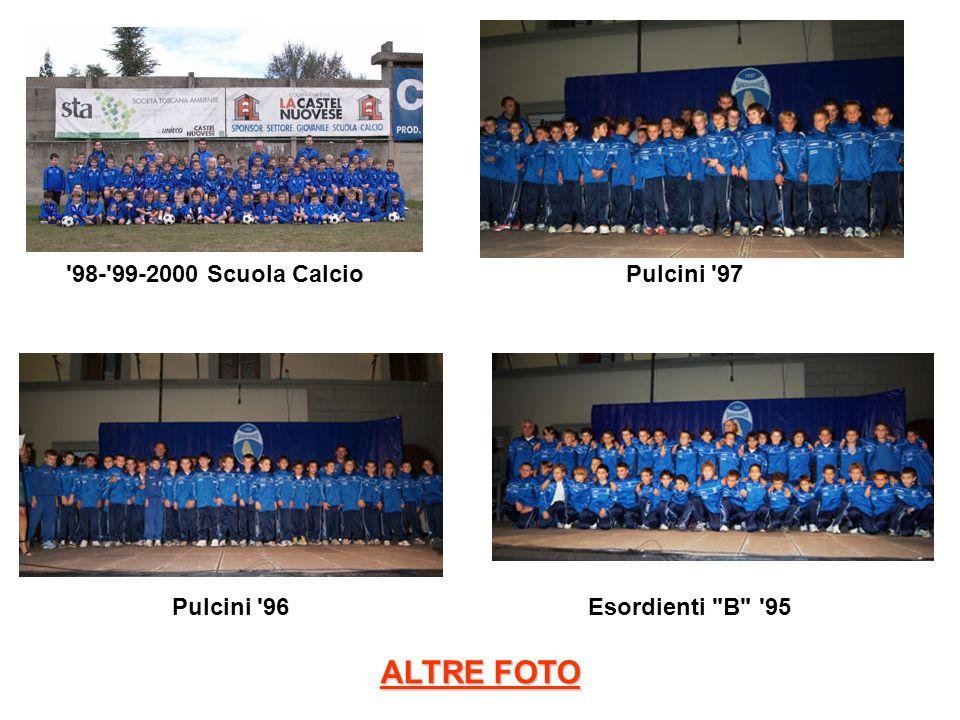 ALTRE FOTO 98- 99-2000 Scuola Calcio Pulcini 97 Pulcini 96