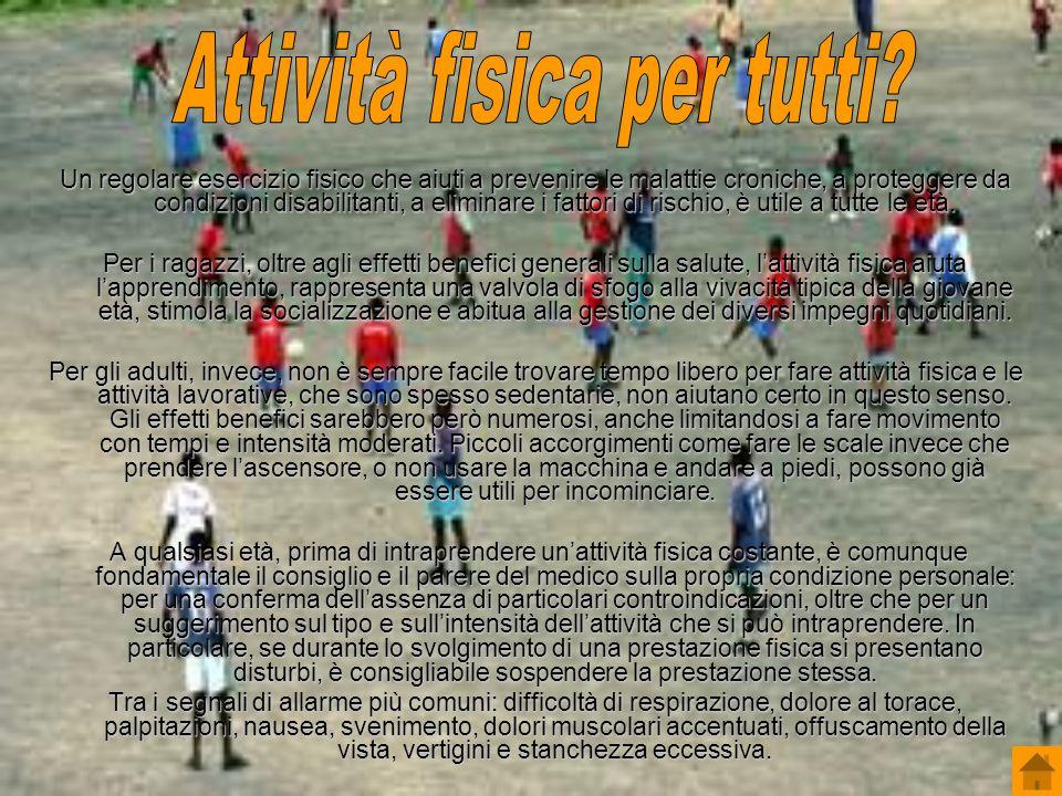 Attività fisica per tutti