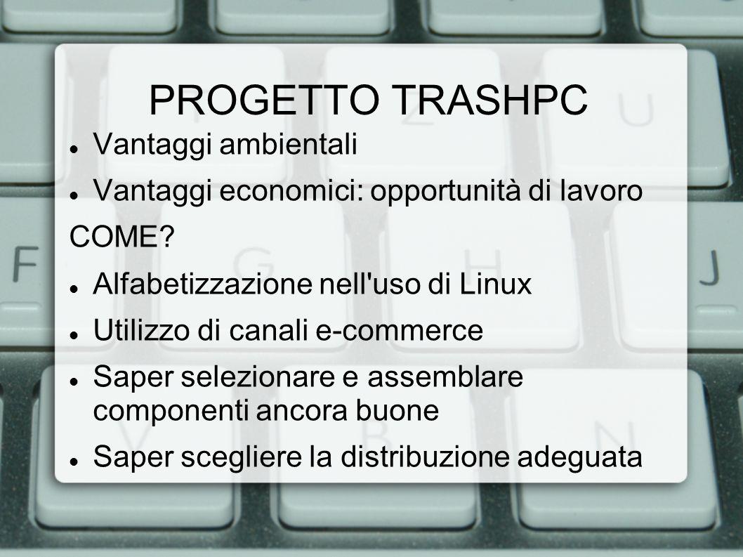PROGETTO TRASHPC Vantaggi ambientali