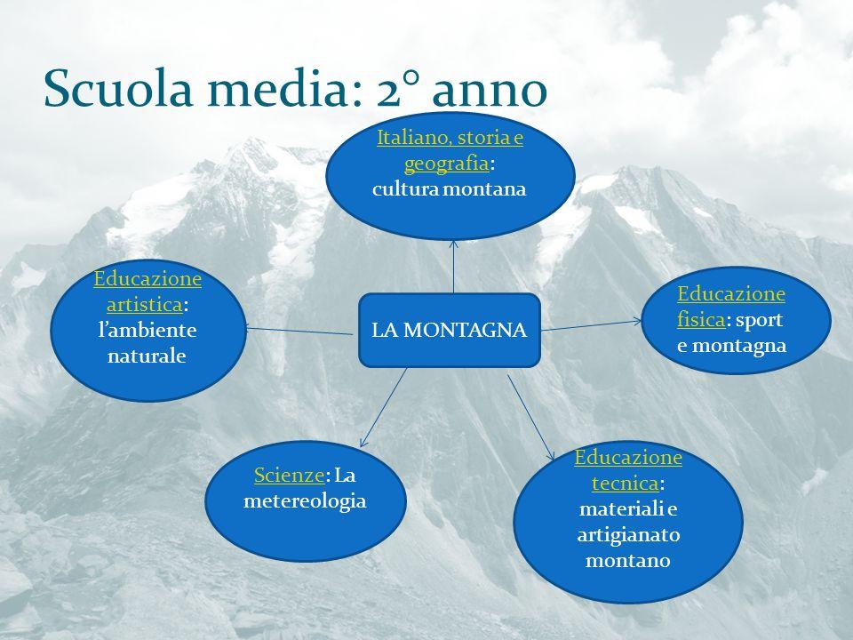 Scuola media: 2° anno Italiano, storia e geografia: cultura montana