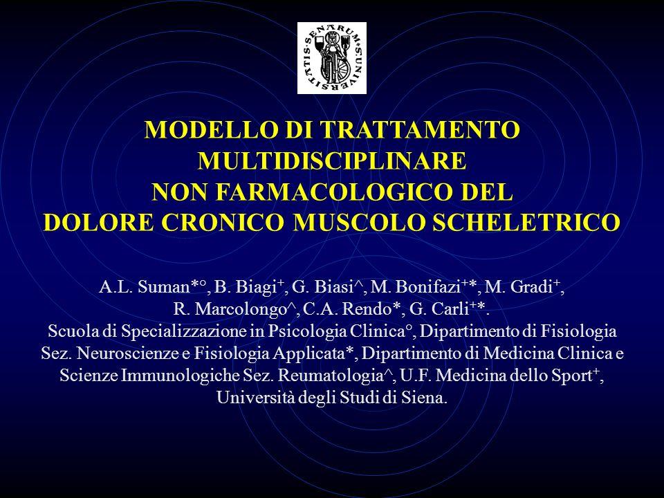 MODELLO DI TRATTAMENTO MULTIDISCIPLINARE NON FARMACOLOGICO DEL