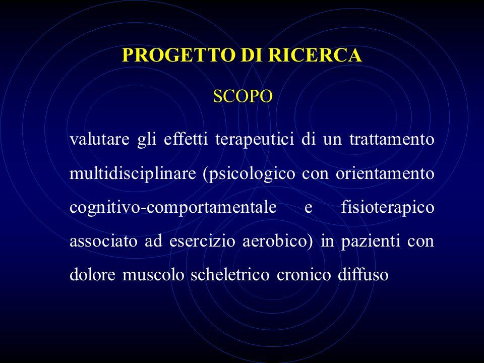 PROGETTO DI RICERCA SCOPO
