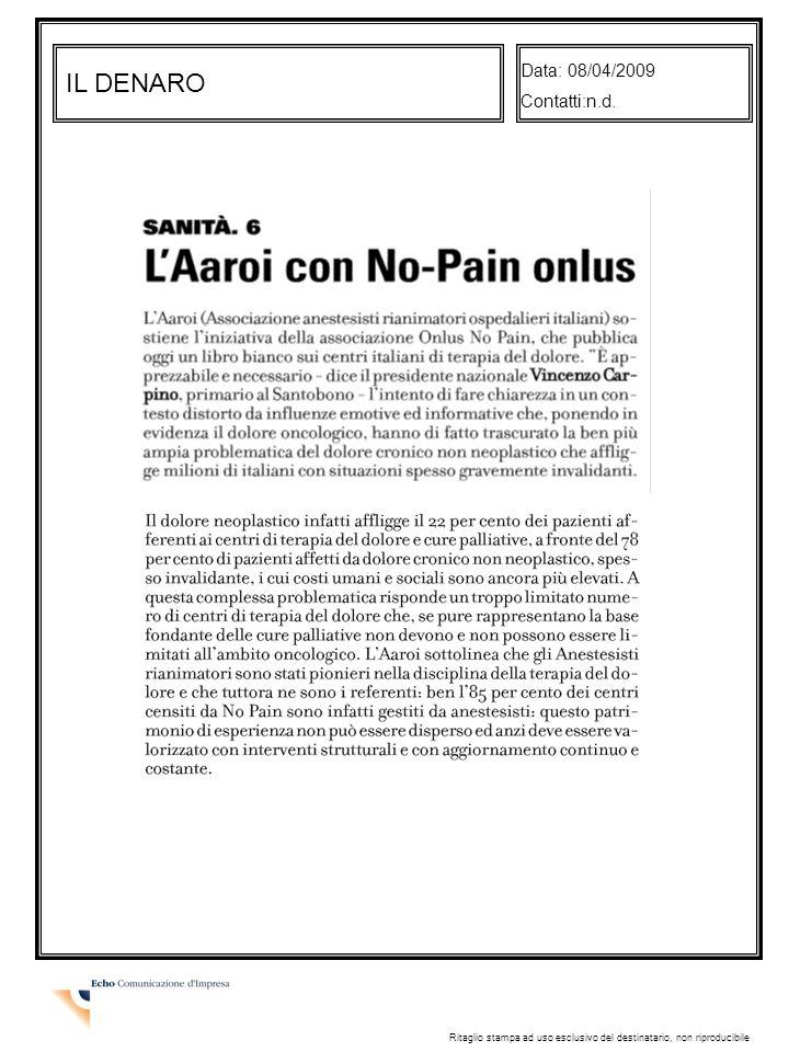 IL DENARO Data: 08/04/2009 Contatti:n.d.