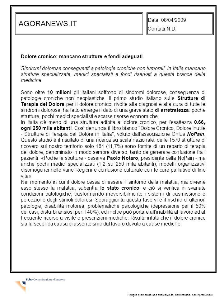 AGORANEWS.IT Data: 08/04/2009 Contatti:N.D.
