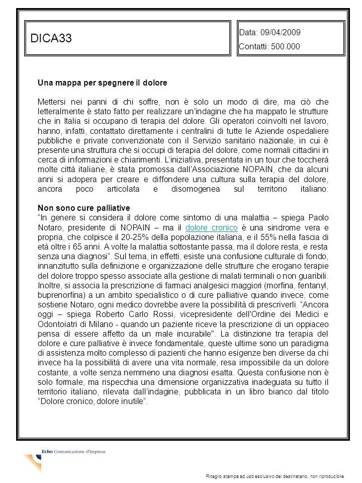 DICA33 Data: 09/04/2009 Contatti: 500.000