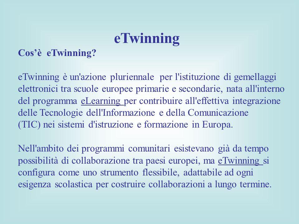 eTwinning Cos'è eTwinning