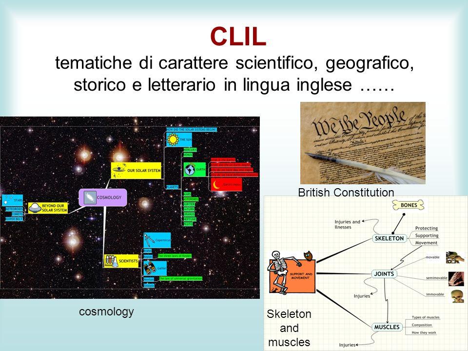 CLIL tematiche di carattere scientifico, geografico, storico e letterario in lingua inglese ……