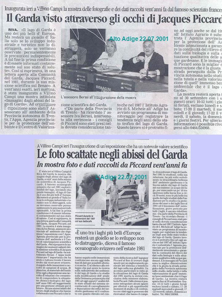 Alto Adige 22.07.2001 L'Adige 22.07.2001