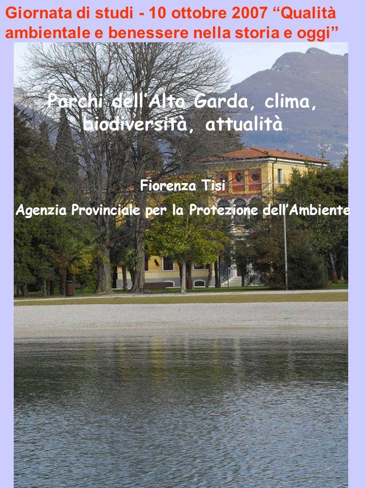 Parchi dell'Alto Garda, clima, biodiversità, attualità