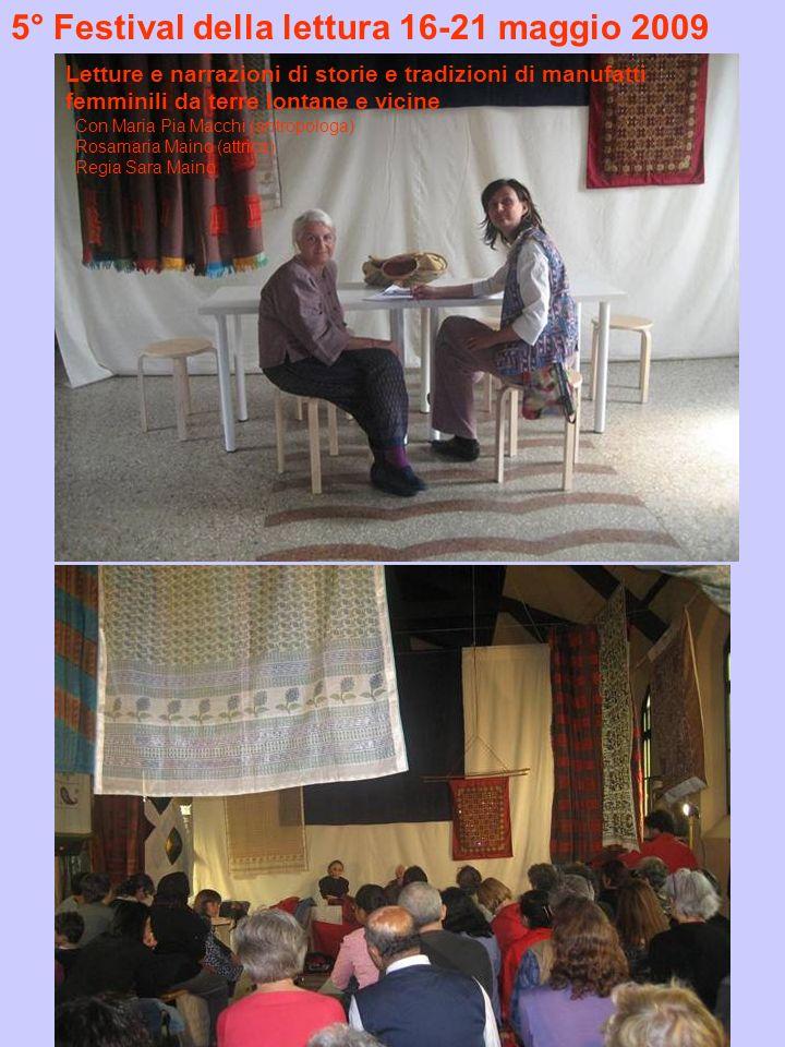 5° Festival della lettura 16-21 maggio 2009